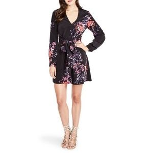 Rachel Roy | Long Sleeve Floral Wrap Dress